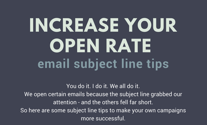 email subject lines inforgraphic