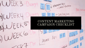 content marketing campaign checklist
