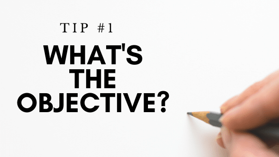 Tip 1 Objective