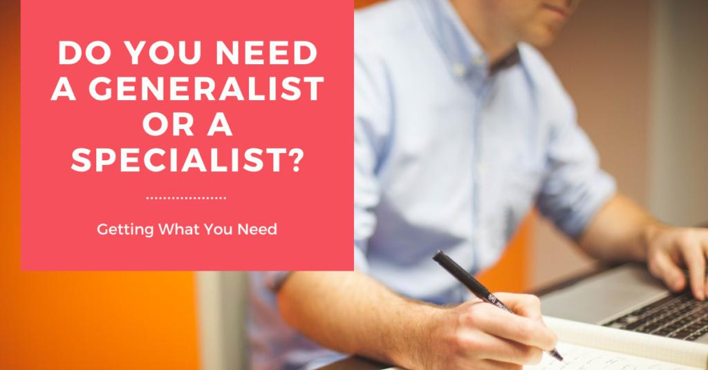 specialist or generalist